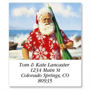 Sun, Surf and Santa Select Address Labels