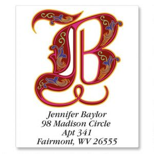 Royal Monogram Select Address Labels