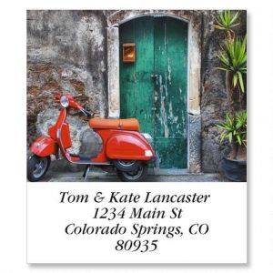 Red Scooter Select Address Labels