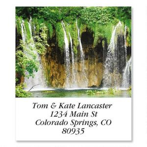Waterfall At Plitvice  Select Address Labels