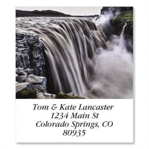 Dettifoss Waterfall  Select Address Labels