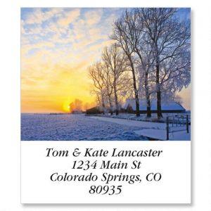 Winter Landscape Select Address Labels