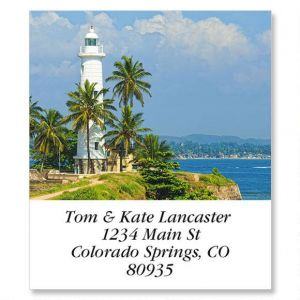 Tropical Lighthouse Select Address Labels