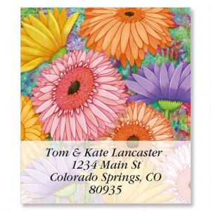 Pastel Gerber Daisies Select Address Labels