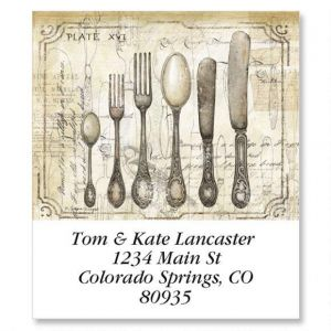 Utensils Select Address Labels