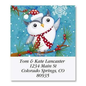 Happy Holiday Owl Select Address Labels