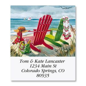 Seashore Christmas Select Address Labels
