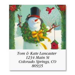 Welcome Snowman Select Address Labels
