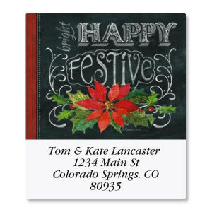 Merry, Jolly, Festive Select Address Labels