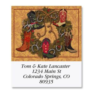 Festive Boots Select Address Labels