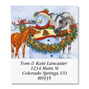 Frosty, Foal, and Felicity Select Address Labels