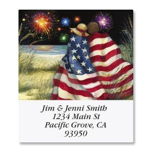 Beach Couple Select Address Labels