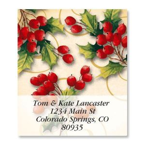Holly Berry Swirls Select Address Labels
