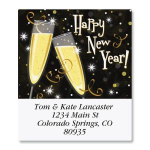 New Year Toast Select Address Labels