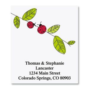 Ladybugs Select Address Labels