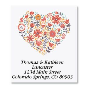 Petite Blooms Select Address Labels