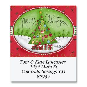 Holiday Houndstooth Select Address Labels