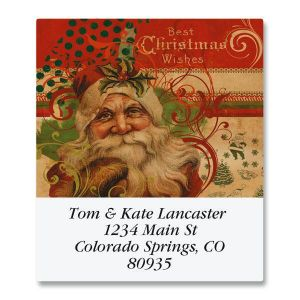 Victorian Santa Select Address Labels