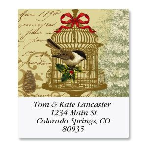 Golden Birdcage Select Address Labels