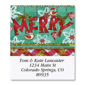 Merry Plaid Select Address Labels