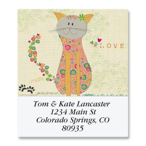 Patchwork Cat Select Address Labels