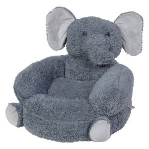 Plush Sherpa Elephant Children's Character Chair