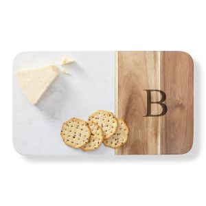 Marble & Acacia Cheese Personalized Board