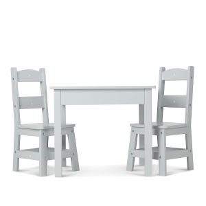 Gray Wooden Table & Chair by Melissa & Doug®