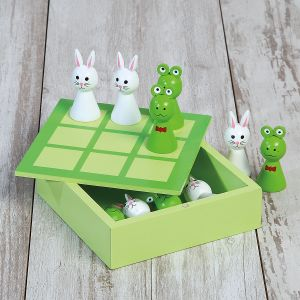 Frog & Bunny Tic Tac Toe Game