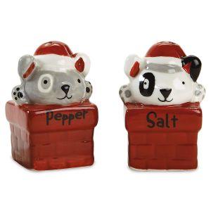 Christmas Dogs Salt and Pepper Shaker Set
