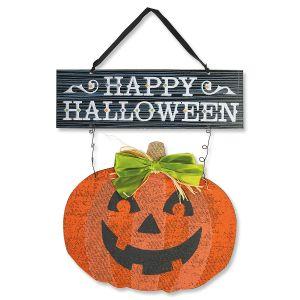 Happy Halloween Jack-o'-Lantern Sign