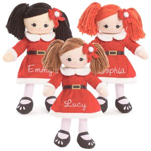 Custom Rag Doll in Santa Dress