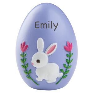 Personalized Purple Resin Easter Egg