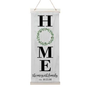 Custom Home Wreath Hanging Canvas