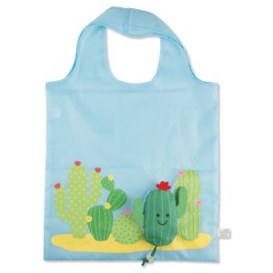 Colorful Cactus Foldable 3D Tote Bag