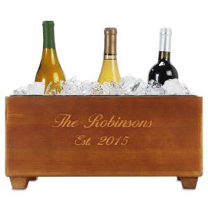 Custom Wooden Wine Trough
