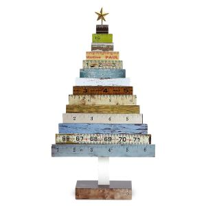 wooden ruler tree - Unique Christmas Decorations