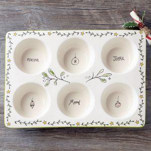 Christmas Stoneware Muffin Pan