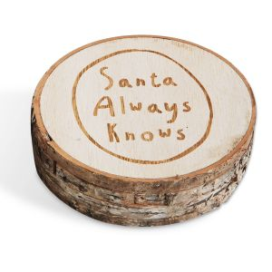 Santa Wood Christmas Coasters