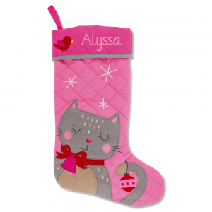 Custom Cat Christmas Stocking by Stephen Joseph®