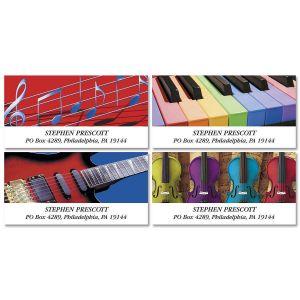 Instrumental Deluxe Address Labels  (4 Designs)