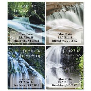 Waterfalls Bookplates  (4 Designs)