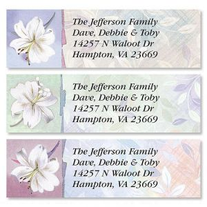 White Lilies Classic Address Labels  (3 Designs)
