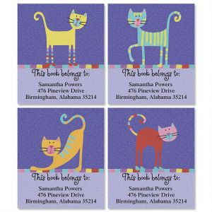Fun Cats Bookplates  (4 Designs)