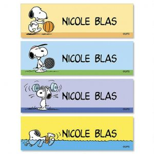 SNOOPY®  Olympics Personalized Belongs To ID Labels   (4 Designs)