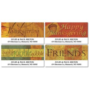 Autumn Appreciation Deluxe Address Labels  (4 Designs)