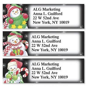 Happy Snowmen  Classic Address Labels  (3 Designs)
