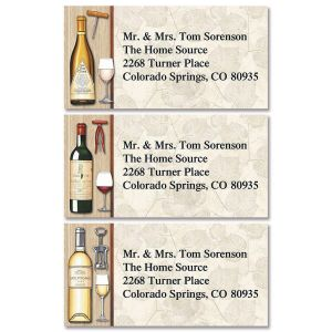 By The Glass Border Address Labels  (3 Designs)