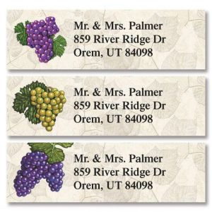 Grapes Classic Address Labels  (3 Designs)