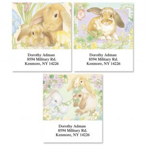 Unique easter gifts easter gifts ideas colorful images lovely bunnies select address labels 3 designs negle Choice Image